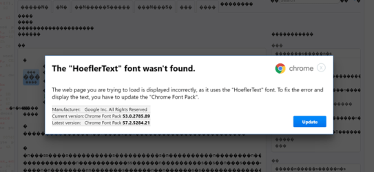 BEWARE! Don't fall for 'Font Wasn't Found' Google Chrome Malware Scam.